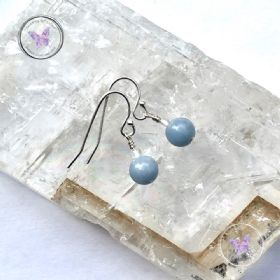 Angelite & Crystal Quartz Earrings